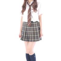 重盛さと美の紺色ハイソックスな女子校生制服画像