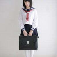 姫川風子の白ハイソックスなセーラー服画像