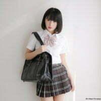 姫川風子の紺色ハイソックスにプリスカの制服画像