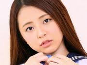 松下陽月 紺色ハイソックスな女子校生コスプレ画像